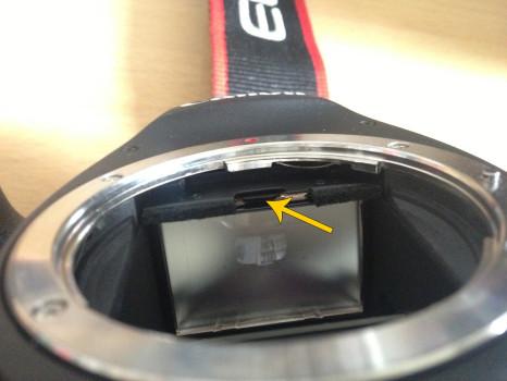 Schließen des Rahmens an der Canon 6D